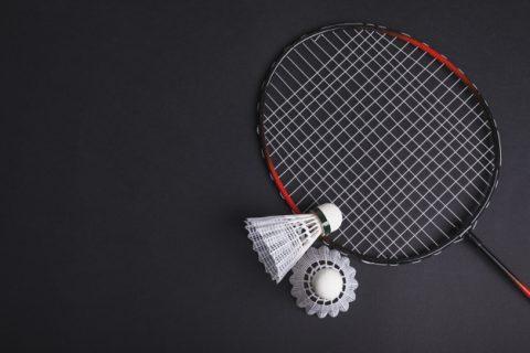 Fjerbolde og badmintonketcher
